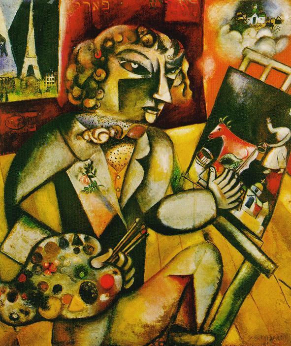 chagall, selfportrait