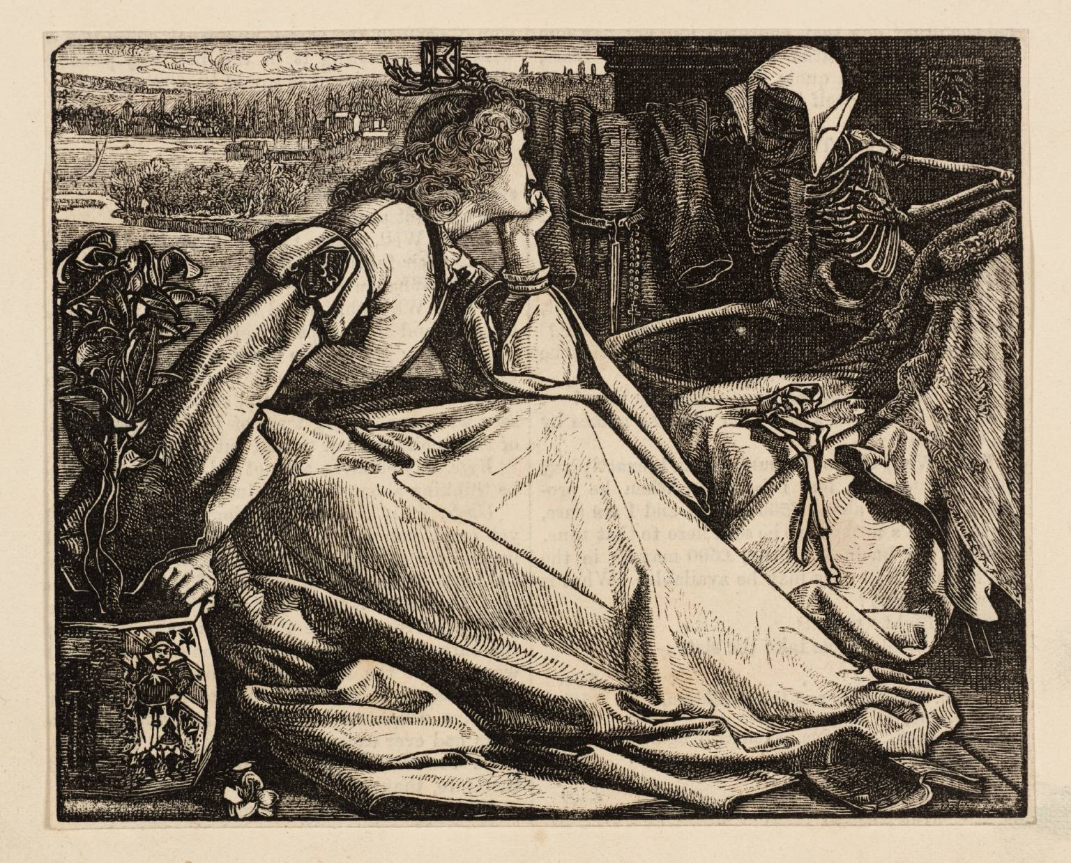 Melancholia null by Frederick Sandys 1829-1904