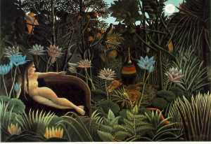 Painting The dream by Henri Rousseau