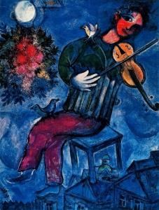 The Blue Violinist, Marc Chagall