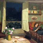 Tavik Simon Vilam reading books on a sofa