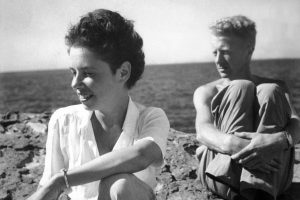 A photograph of Jane Bowles with her husband Paul Bowles