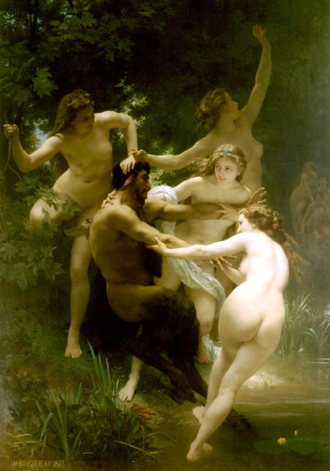 Nymphes et Satyre by William Bouguereau